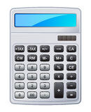 Calculator. Vector illustration of grey calculator Royalty Free Stock Photos