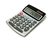 Calculator. On white with a Cyclic number in the display Royalty Free Stock Photography