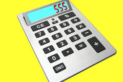 Calculator. On the yellow background Royalty Free Stock Photography
