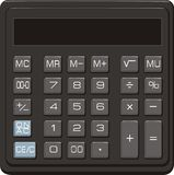 Calculator. Vector illustration of desktop office calculator with  the LCD display Royalty Free Stock Images