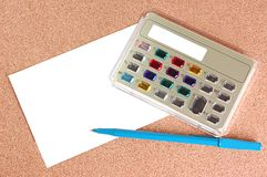 Calculator. A beautiful electronic calculator with jeweled keys with copy space Royalty Free Stock Images