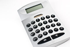 Calculator. A calculator isolated on a white background Royalty Free Stock Images