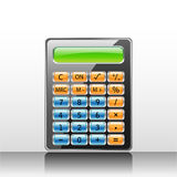 Calculator. Vector illustration of a glossy stylish calculator icon Stock Image