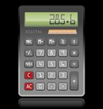 Calculator. Illustration on black background Stock Photo
