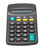 Calculator. Isolated pocket calculator on white background Royalty Free Stock Images