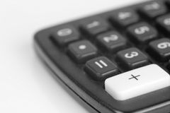 Calculator. On a white background Royalty Free Stock Images
