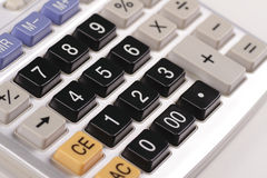 Calculator. Close up view of a calculator Royalty Free Stock Image