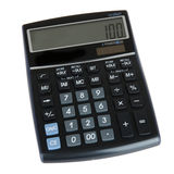 Calculator. A black calculator on a white background Royalty Free Stock Images