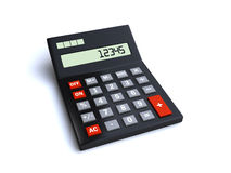 Calculator. Isolated on a white background (3d render Royalty Free Stock Photo