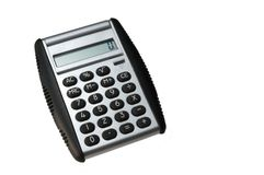 Calculator. On white background from above Royalty Free Stock Images