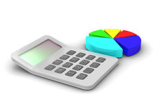 Calculator. Business concept calculator and chart Stock Photography
