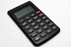 Calculator. Black calculator isolated on white background Stock Photo