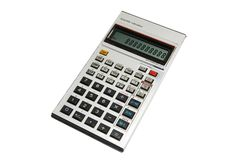Calculator. Scientific calculator isolated on a white background with a clipping path Royalty Free Stock Photo