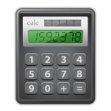 Calculator. Detailed  illustration of calculator Stock Photos