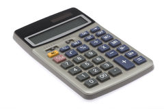 Calculator 2. Professional business calculator isolated on white background Royalty Free Stock Photo