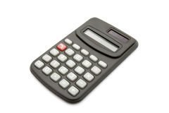 Calculator 2. Close up of calculator on white background with clipping path Stock Image