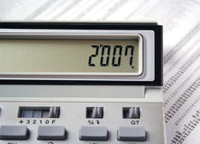 Calculator 2007 Royalty Free Stock Image