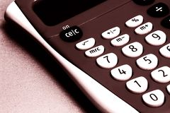 Calculator. Close-up of calculator Royalty Free Stock Image