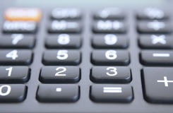 Calculator. Calculator - a countable electronic device Royalty Free Stock Images