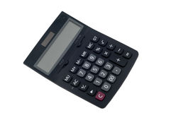 Calculator. On the isolated white background Royalty Free Stock Image