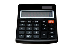 Calculator. A calculator is located on a white background royalty free stock image