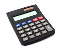 Calculator. Digital electronic calculator on white background Stock Photography