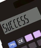Calculator. A calculator macro Royalty Free Stock Photo