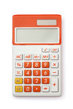 Calculator. A calculator on a white background Royalty Free Stock Photos