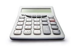Calculator. A calculator on a white background Stock Photo