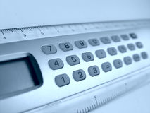 Calculator. In blue royalty free stock photos