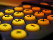 Calculator. Close-up of a pocket calculator Stock Photos