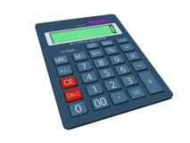 Calculator in 3D Royalty Free Stock Image