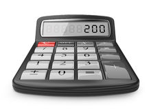 Calculator. 3d icon isolated on white Stock Photo
