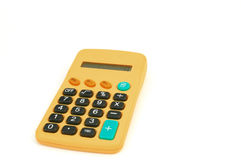 Calculator #4. On white background royalty free stock photo