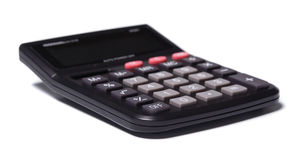 The calculator. Isolated at the white background Royalty Free Stock Images