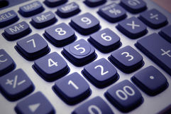 Calculator. Detail of numbers on a calculator royalty free stock photography