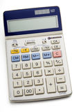 Calculator. An electronic calculator on white Stock Images