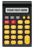 The calculator. Illustration of calculator  with space for your text Royalty Free Stock Photography