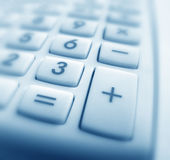 Calculator. Close up of Calculator keypad Stock Photography