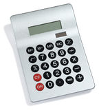 Calculator. Modern calculator on a white background Royalty Free Stock Photo