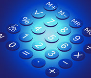 Calculator. Vector illustration, AI file included Royalty Free Stock Images