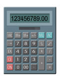 Calculator. Illustration of solar powered calculator Royalty Free Stock Photo