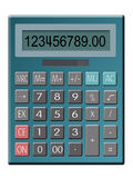 Calculator. Illustration of solar powered calculator Stock Images