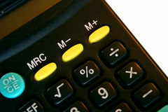 Calculator. In close up isolated on white Stock Images
