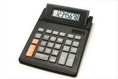 Calculator. Isolated on the white background Stock Images