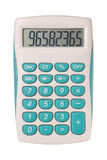 Calculator. Electronic calculator on white background Royalty Free Stock Images
