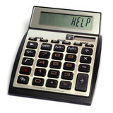 Calculator. A calculator shows need help Stock Images