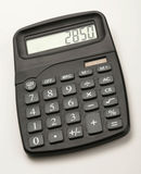 Calculator. Closeup of black calculator on white background Stock Photography