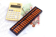 Calculator / abacus to calculate that works all the time Royalty Free Stock Images