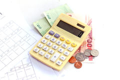 Calculator / abacus to calculate that works all the time Stock Photo